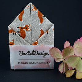 Fox Beige Pocket Square