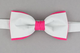 Pink Gray Bow Tie