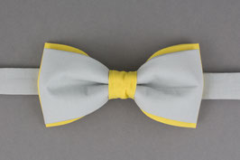 Yellow Gray Bow Tie