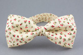 Light Yellow Floral Bow Tie