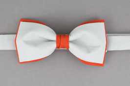Orange Gray Bow Tie