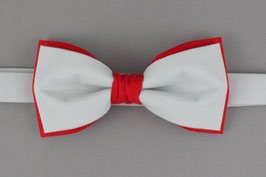 Red Gray Bow Tie