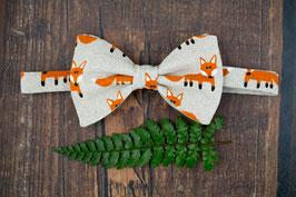 Fox Beige Bow Tie