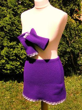 Cacheur violett mit passenden Pulswärmern