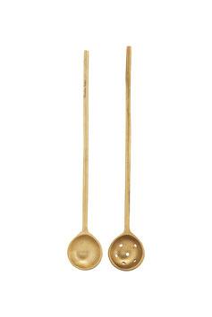 Nicolas Vahé - Set of Brass Spoons Gold