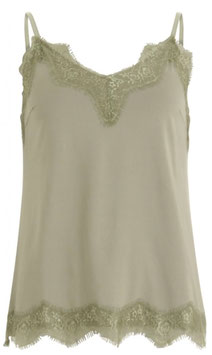 Coster CPH - Strap Top With Lace - Dusty Green