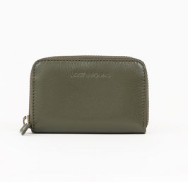 LOST&FOUND - Mini Zip Around Portemonnaie Olive