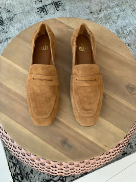 Billi bi - Cognac Suede Leather Loafer - So Many Queens Special Edition !
