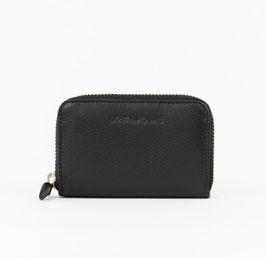 LOST&FOUND - Mini Zip Around Portemonnaie Black
