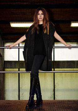 Henriette Steffensen - Vest Fleece Black or Caramel
