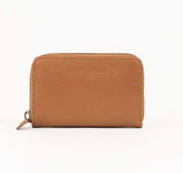 LOST&FOUND - Mini Zip Around Portemonnaie Caramel