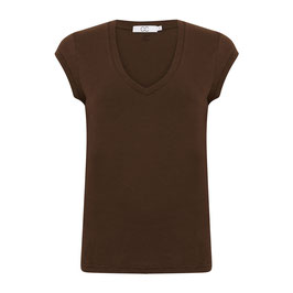 Coster CPH - Basic T-Shirt with V-Neck Coffee
