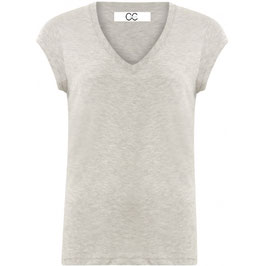 Coster CPH - Basic T-Shirt with V-Neck Light Grey