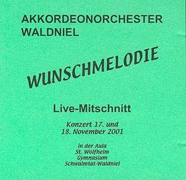"""CD """"Wunschmelodie"""" (Live-Mitschnitt der Jahreskonzerte 2001)"""