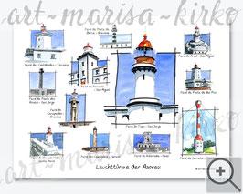 Leuchttürme der Azoren (Titelbild des Kalenders)