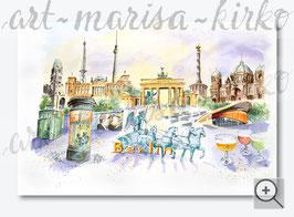 Wahrzeichen-Collage Berlin im Großformat