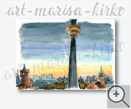 Berlin-Alexanderplatz am Abend