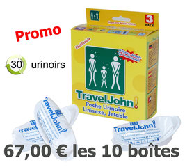 Traveljohn  pack-3  x 10