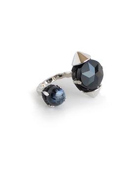 FIFS Studs Onyx RING  blue pietersite