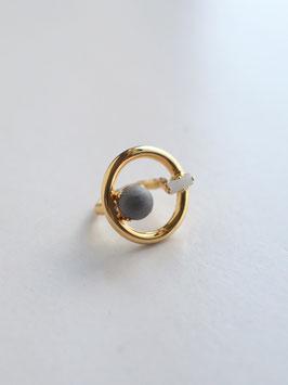 NOFI RING Gold×Drussy agate