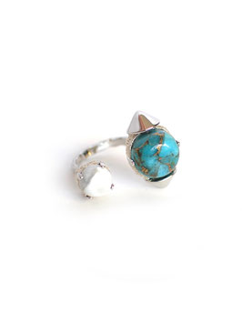FIFS STUDS RING Turquoise