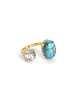 FIFS RING Copper Tarquoise