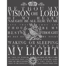 "IOD Decor Transferfolie  ""Be Thou My Vision"" klein"