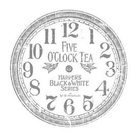 "IOD Decor Transferfolie  ""Clock"" 12 inch."