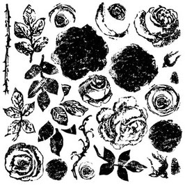 IOD Decor Stempel Painterly Roses