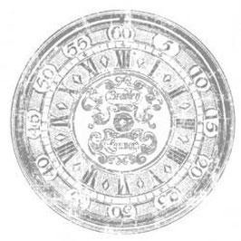 "IOD Decor Transferfolie  ""Clock"" 20 inch."