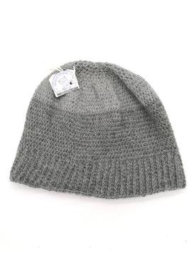 Alpaka Mütze Beanie grau, kuschelig warm