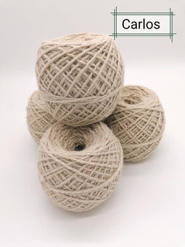 Schöne Wolle von unseren Carlos in Natur weiß 100 g