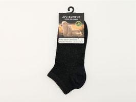 Sneaker Socken Premium aus Baby Alpaka Wolle, schwarz