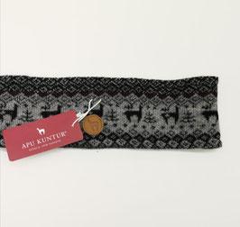 Stirnband warm mit Alpaka Muster
