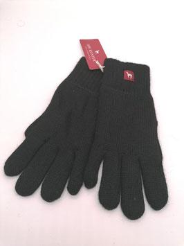 Alpaka Handschuhe gefüttert schwarz Gr. S