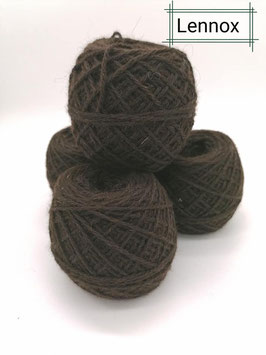 Tolle Wolle von unseren Lennox in dark brawn 100g 3 fädig