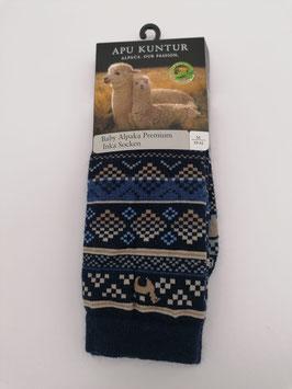 Alpaka Socken mit Inka Muster Gr.39/41