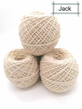 Schöne Wolle von unseren Sir Jack in natur weiß 100g