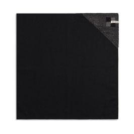 Knitfactory theedoek Block zwart taupe