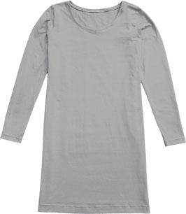 PUURlifestyle longsleeve dress lichtgrijs tricot