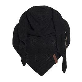 Knitfactory Coco omslagdoek zwart