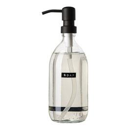 "Wellmark Handzeep  500 ml helder glas fris linnen """"soap"""" zwart"