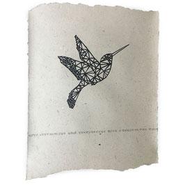 Nadesign olifantenpoepposter kolibri
