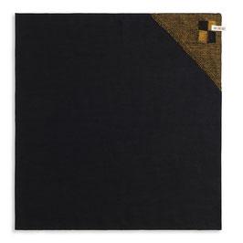 Knitfactory theedoek Block zwart oker