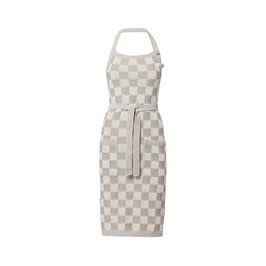 Knitfactory keukenschort ecru/linnen