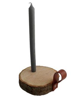 Dx11 Kaarsenhouder van hout en leer