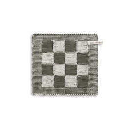 Knitfactory pannenlap ecru/khaki