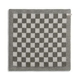 Knitfactory keukendoek Block ecru/khaki