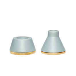 2er Set Teelichthalter & Kerzenständer aus Keramik