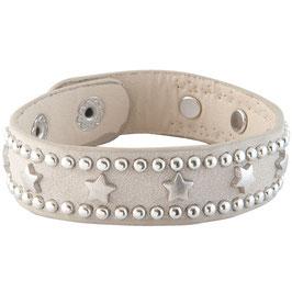 Armband grau mit Stern-Nieten